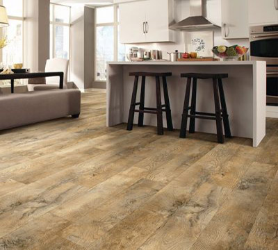 Luxury Vinyl Plank In The Kitchen Ferma Flooring